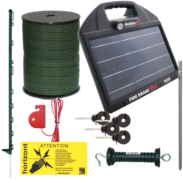 Green Solar Electric Fencing Kit