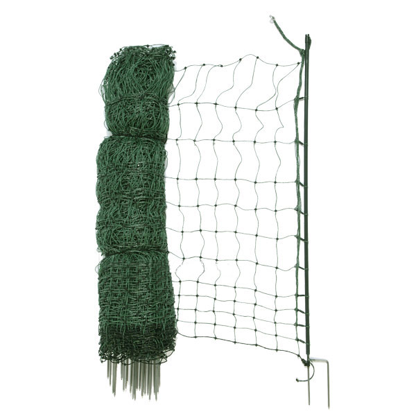 25m Poultry Net With Double Spike Posts