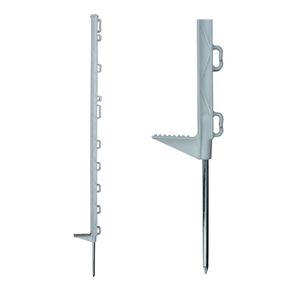 white fence post. Plastic Electric Fencing Posts (White) White Fence Post N
