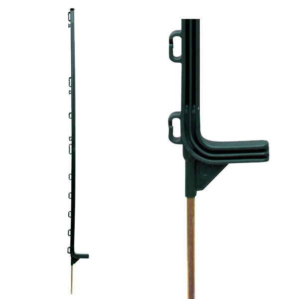 4 Tall Green Superior Electric Fence Polyposts For Horses