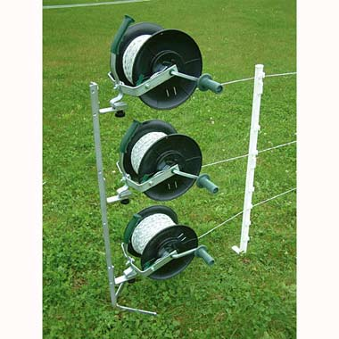 A Kit With Heavy Duty Electric Fence Reels On A Mounting Stand