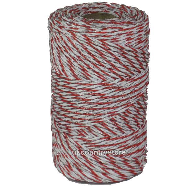 Red Amp White Electric Fence Twine Poly Wire